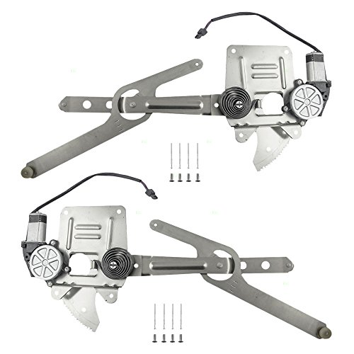 Driver and Passenger Front Power Window Lift Regulators & Motor Assemblies for Chevrolet GMC Isuzu Pickup 93386009 15043153