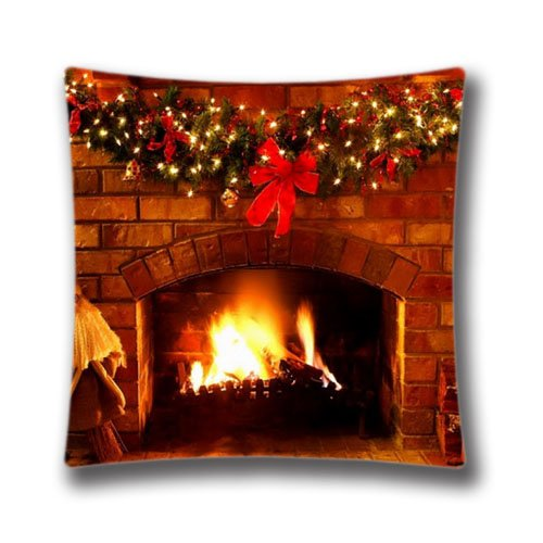 amazoncom happy new year pillow case cute snata claus cushion cover xmas stuff for christmas fireplace screensaver pillowslip standard size 18x18inch two