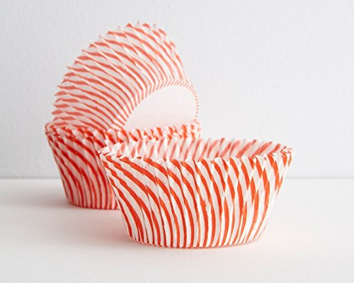 Candy Cane Cake - Candy Cane Red Stripe Pinwheel Cupcake Baking Cups 50 count