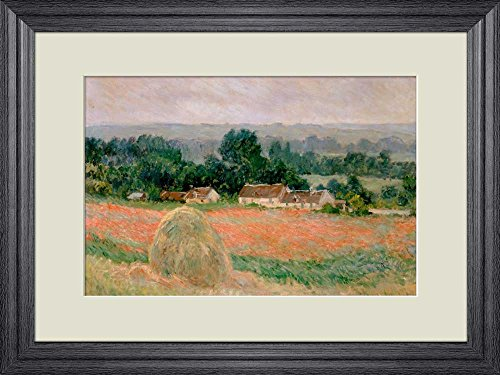 Creative 3D Visual Effect Wall Mural Haystack at Giverny by Claude Monet Peel Stick Wall Decor