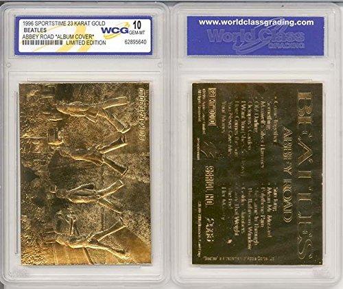 - BEATLES ABBEY ROAD Album Cover 23KT Gold Card Sculptured - Graded GEM MINT 10
