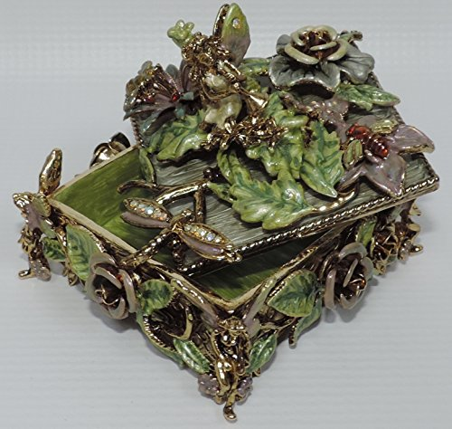 (Square Trinket Box - Fairy, Dragonfly, Bee)