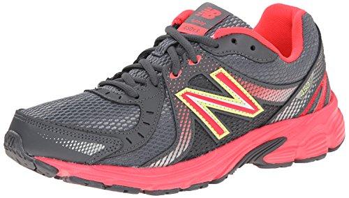 New Balance Women's W450V3 Running Shoe, Dark Grey/Red, 8 B US