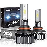 9005/HB3 LED High Beam Headlight Bulbs Conversion Kit, SEALIGHT S1 Series 9145/H10 Fog Light Bulbs Cool White 6000K-2 Yr Warranty
