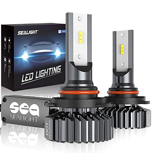 9005/HB3 LED High Beam Headlight Bulbs Conversion Kit, SEALIGHT S1 Series 9145/H10 Fog Light Bulbs - Xenon White 6000K