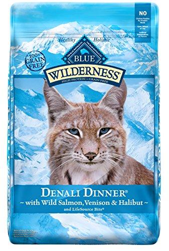 Blue Buffalo Wilderness Denali Dinner with Wild Salmon, Venison & Halibut Grain-Free Dry Cat Food, 10lb