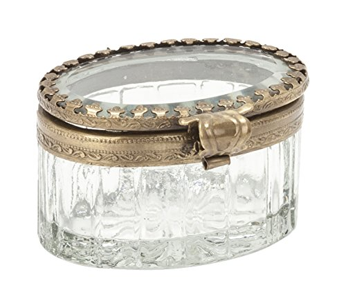 Abbott Collection Small Oval Faceted Box
