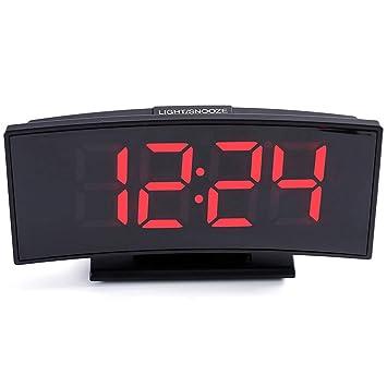 KKmoon Multifuncional Pantalla grande Pantalla digital Reloj de mesa electrónico Mute LED Reloj despertador con función de fecha y función de temperatura: ...