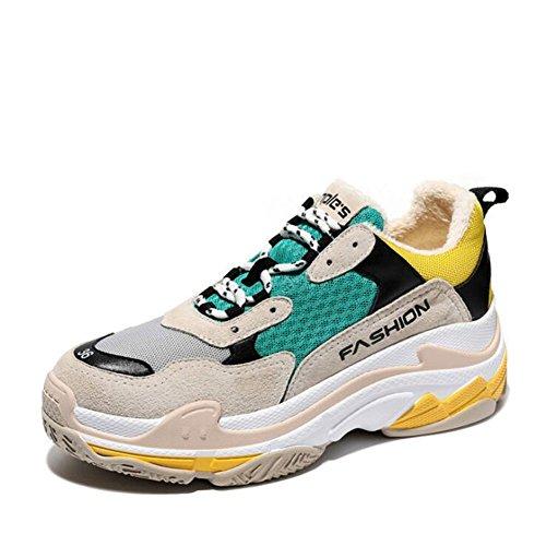 Zapatos de Mujer New Harajuku Retro Style Sneakers, Street Beat Ladies Zapatos de Viaje Ocasionales, Otoño Invierno Nuevo Segundo