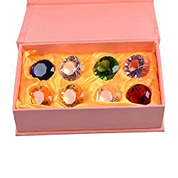 Box Of Crystal Paperweight Pirate Gems