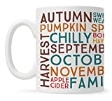 Fall Autumn Season Coffee Mug, Fall Lover Mug, Thanksgiving Mug, Pumpkin Spice Sweater Weather Mug