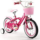 "ROYAL BABY MERMAID STYLE PRINCESS PINK GRIL'S BIKES IN SIZE 12"" 14"" 16"" & 18""+ Adjustable removable stabilisers+ front pink basket."