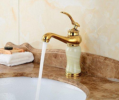 Aawang Antique Styling Brass Bowlder Deck Mount Bathroom Basin Faucet Vanity Vessel Sinks Mixer Tap