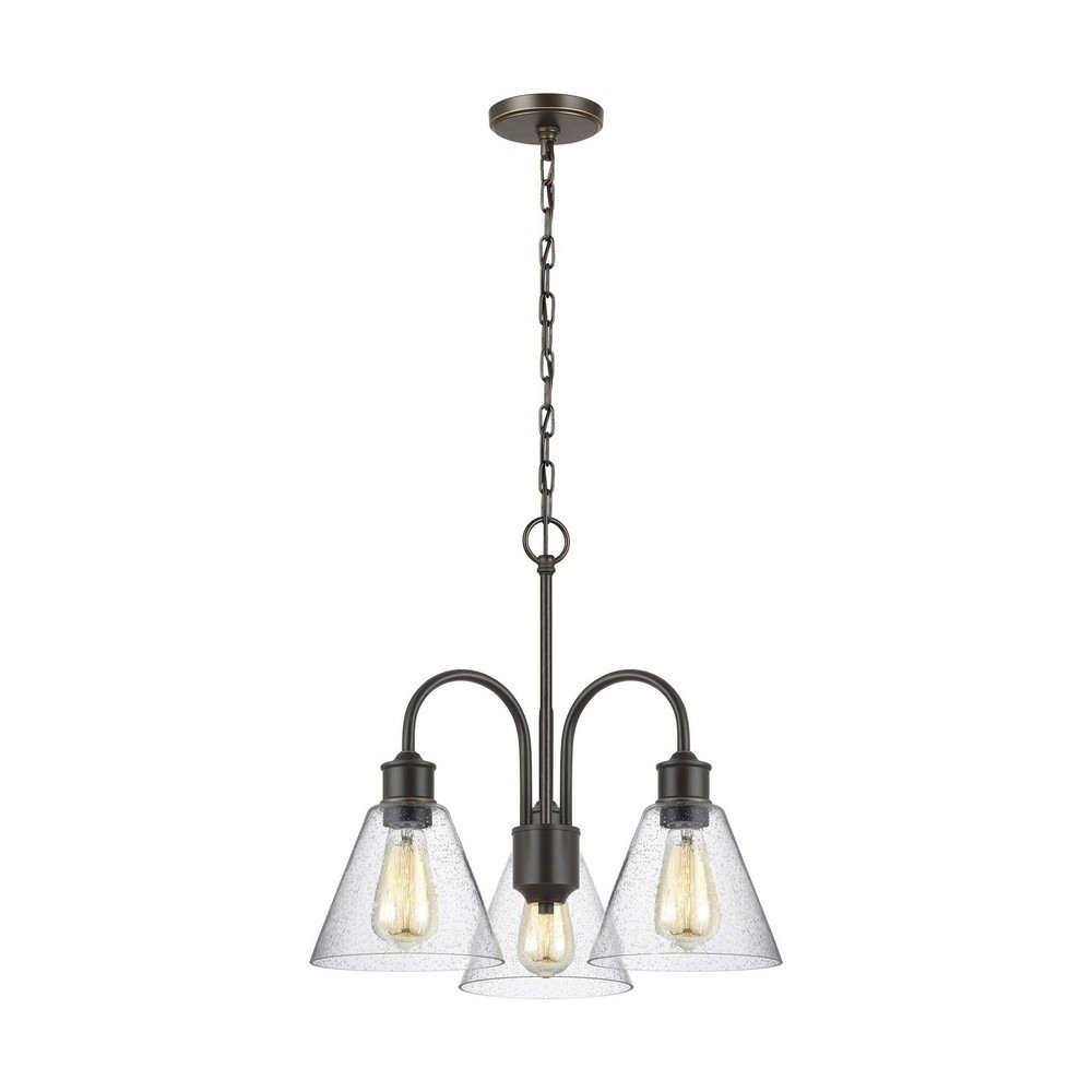 Sea Gull Lighting 3120303-782 Three Light Chandelier Heirloom Bronze