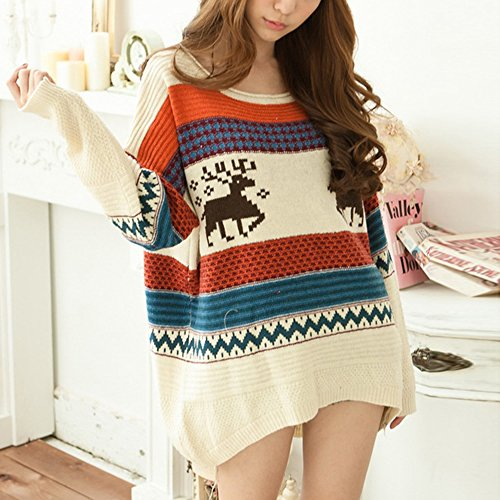 Fashiomy Girl's Knitted Sweater Autumn Winter Casual Coat Jacket Top (Yellow) by Fashionmy (Image #2)