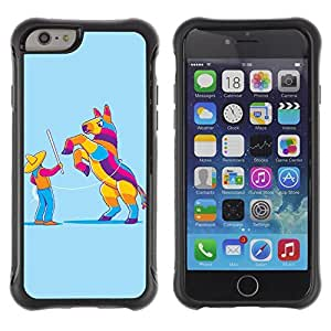 Hybrid Anti-Shock Defend Case for Apple iPhone 6 4.7 Inch / Pinata