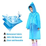 Kids Children Toddler Rain Poncho - Packable PVC...