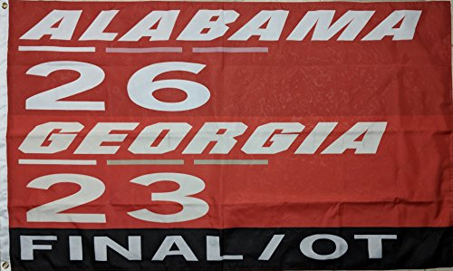 Last Run Alabama Crimson Tide BCS Championship Football Flag (Football Bcs)
