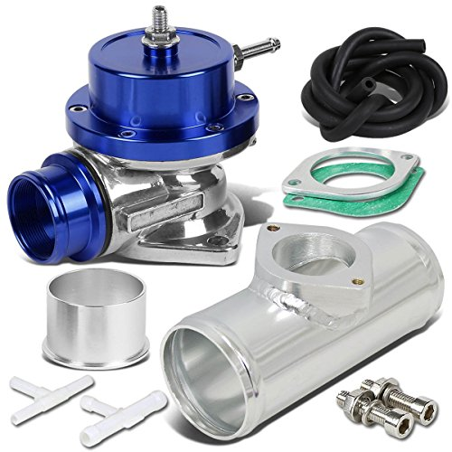 "Type-S Style Universal 40mm Turbo Blow Off Valve+2.5"" Flange Pipe - Blue"