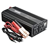 Graceme Car Power Inverter 1000W Converter Supply 12V DC To 110 AC Dual US AC Outlet Dual 2.1A USB Port Charger with Cigarette Lighter Plug and Alligator Clip