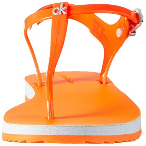 Calvin Klein Jeans Savanna Jelly - Sandalias Mujer Naranja - Orange (Ogf)