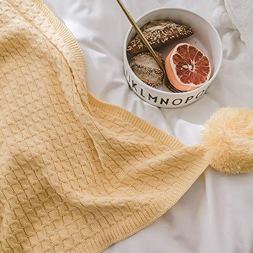GYFY Textil sofá Manta algodón Knit Bola Manta Simple Moderno Estilo nórdico Toalla Manta,Gooseyellow: Amazon.es: Hogar
