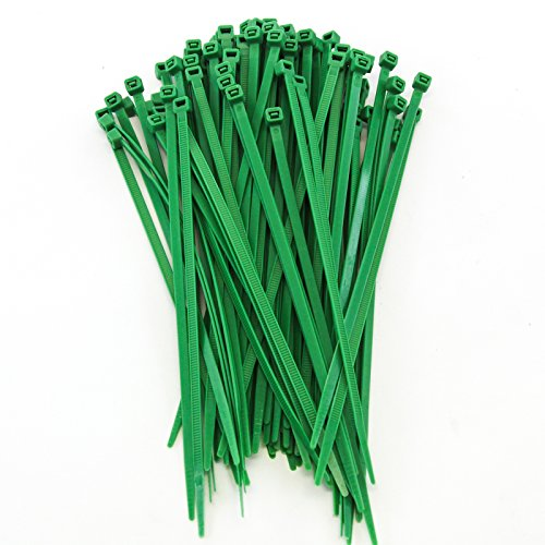 1000 Pack Heavy Duty 8 (50lbs) Zip Cable Tie Down Strap Wire Uv Green Nylon Wrap