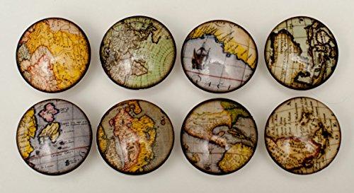 Set of 8 Old World Globe Dresser Drawer Knobs