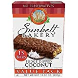 Sunbelt Bakery Fudge Dipped Coconut Chewy Granola Bars, 15 Count per box, 15.32 Oz