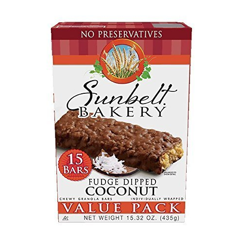 (Sunbelt Bakery Fudge Dipped Coconut Chewy Granola Bars, 1.1 oz Bars, 15 Count )