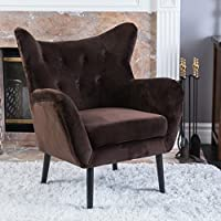 Danielle Brown Velvet Arm Chair