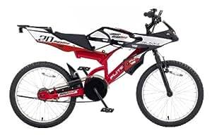 Flite Moto GP - Bicicleta para niño, color negro / rojo