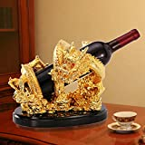 Golden dragon bottles wine rack, Wine holder creative strong and decorative wine standing decor-A L10.6W8H8.6inch(272122cm)