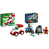 Lego Duplo My First Car with City Police Off -Road Chase Bundle (Pack of 5)