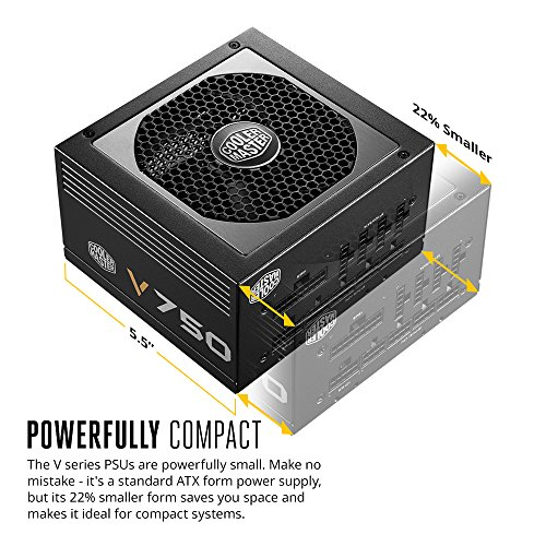 Cooler Master V750 - 750W Compact Fully Modular 80 PLUS Gold Power Supply RS750-AFBAG1-US by Cooler Master (Image #1)