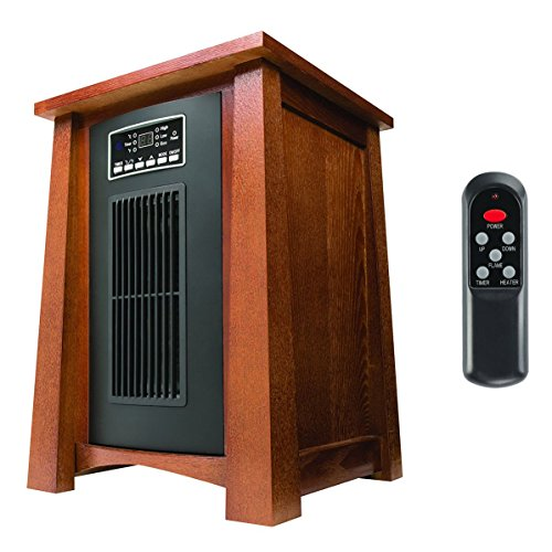 Haier 3 Setting Infrared Heater w/Oak Finish & Remote, 1500W 5100BTU, HHC15CPCV Haier Infrared Heaters