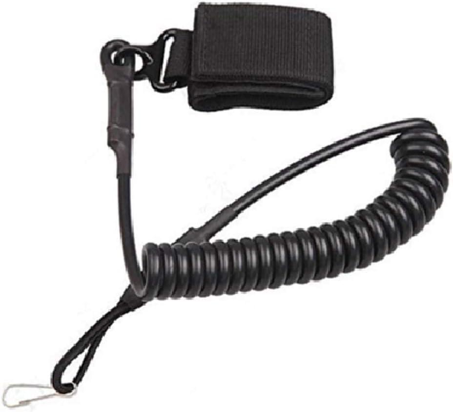 BHCSTORE Pistola táctica Cordón Pistola elástica Cuerda de Seguridad - Correa de Correa de Seguridad Militar Ajustable Resorte Muelle Bobina Refile eslingas para la Caza, Deportes al Aire Libre