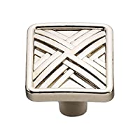 Knobware C3560 Hard Cross Knob, 1.5-Inch, Nickel