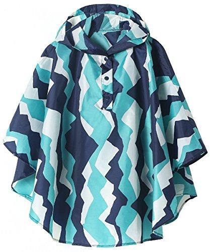 (Lightweight Kids Rain Poncho Jacket Waterproof Outwear Rain Coat,Mountain,L)