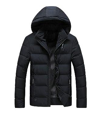WSPLYSPJY Mens Plus Size Winter Down Cotton-Padded Jacket Hooded Long Coat Jacket