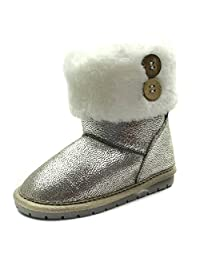 SB121 Studio BIMBI Girls Mid Calf Pull On Baby Boots in Faux Suede