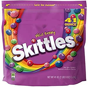 Skittles Wild Berry Candy, 41 ounce bag.