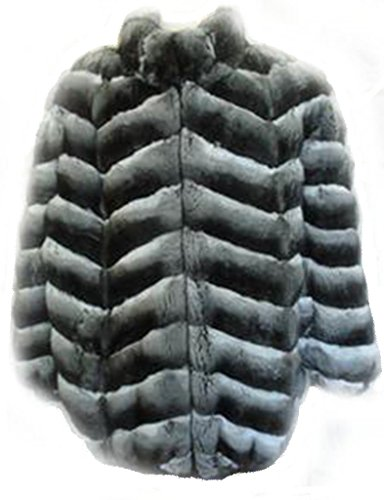 Oliverfurs mens ranched empress chinchilla Fur Jacket coat hood size all reversible to black leather Chinchilla Coats Men
