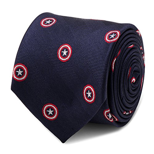 Marvel Captain America Navy Tie, Officially Licensed