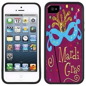 Mardi Gras Handmade iPhone 5 Black Bumper Plastic Case