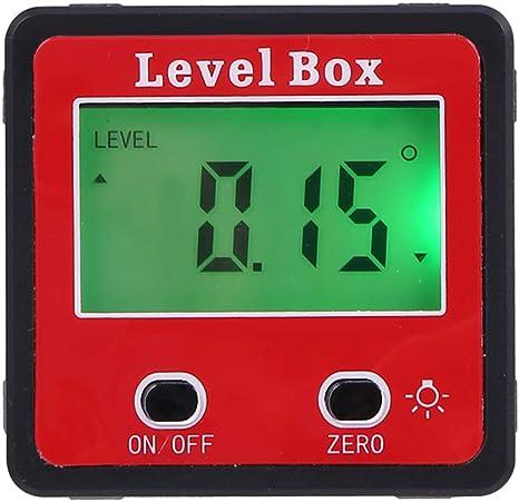 Elettronico Digitale LCD Angolo Scatola Inclinometro Goniometro Magnetico Base