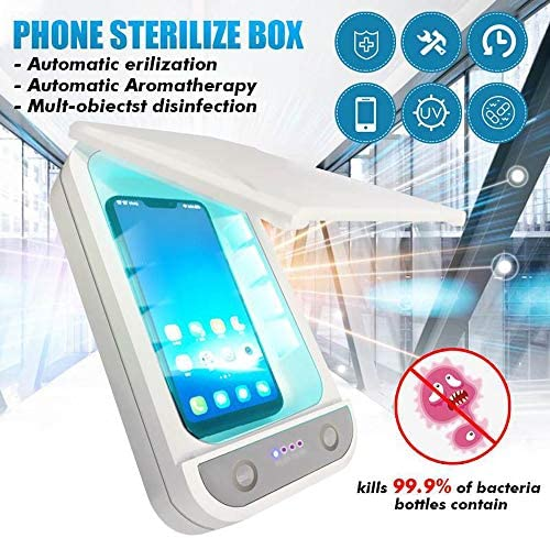 UV携帯電話の消毒、ポータブルスマートフォン滅菌、USBキー、眼鏡のためのアロマセラピー機能消毒剤を荷電、マスク
