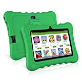 7' Kids Tablet PC, Ainol Q88 Android 7.1 1G RAM 8 GB ROM Tablet, GMS Google Certified, External 3G Portable Kid-Proof Shock-Proof Silicone Case Kickstand with Dual Cameras WiFi USB Phablet Available with iWawa, Netflix & YouTube Supported (Green)