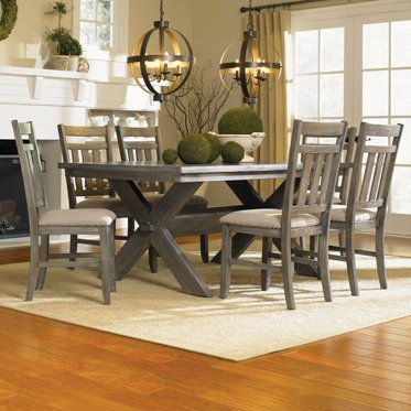 Powell Turino Dining Set, 7-Piece (7 Piece Slat)