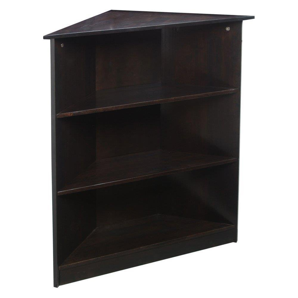 Gift Mark Corner Unit Bookcase, Espresso, 36''